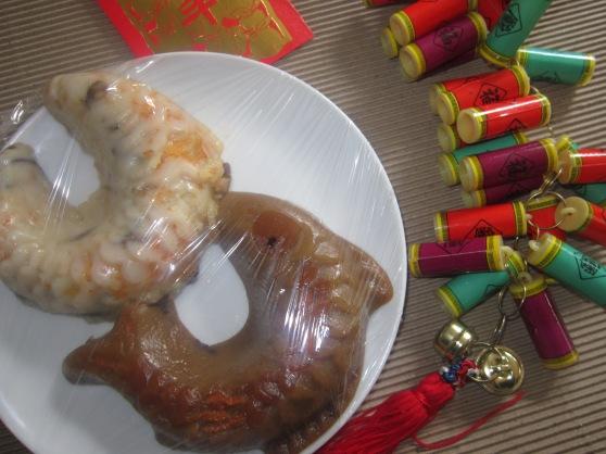 Chinese Sweet Rice Cake (椰汁紅豆年糕)